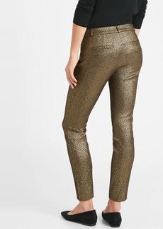 Banana Republic Mid-Rise Skinny Metallic Sloan Pant