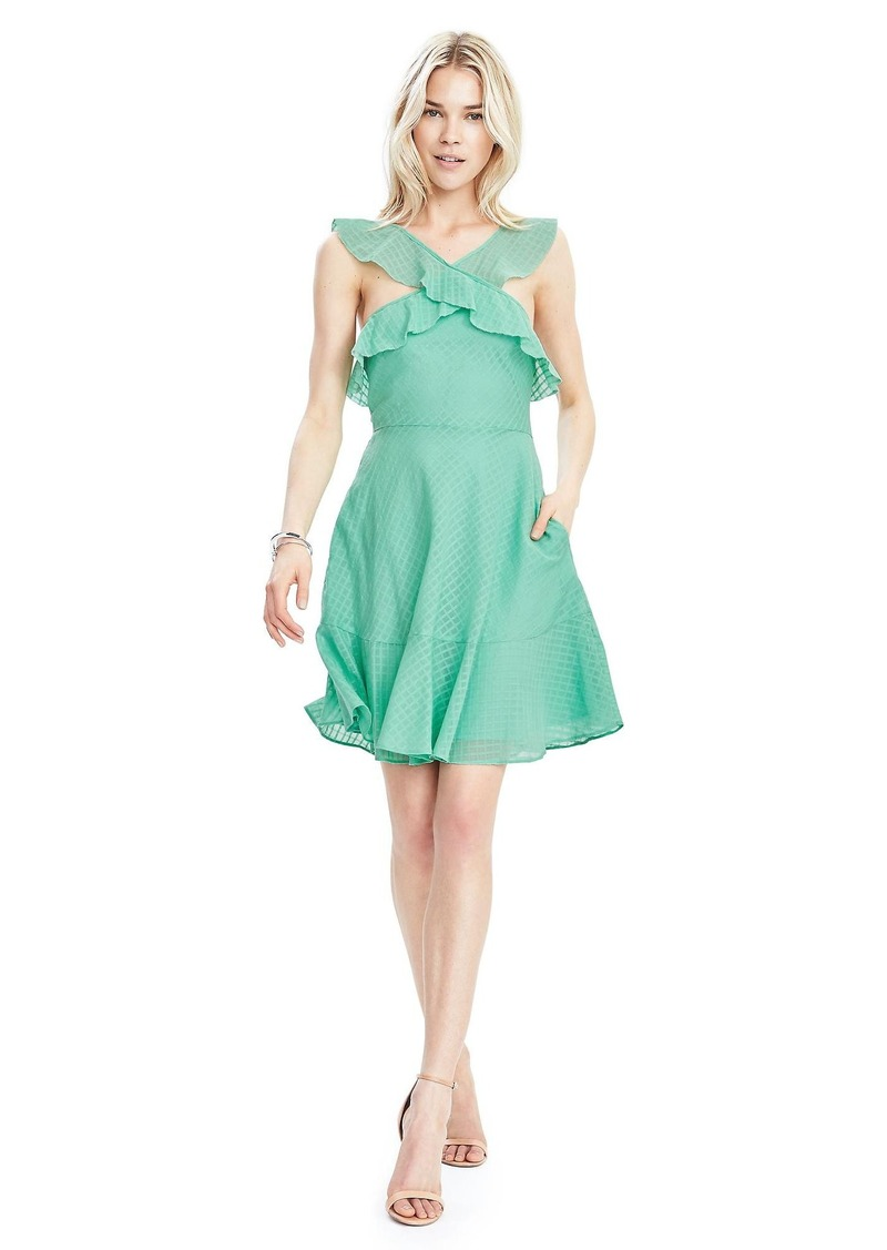 Banana Republic Mint Halter-Ruffle Dress