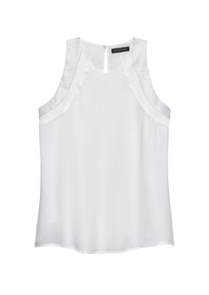 Banana Republic Mixed Media Racerback Top