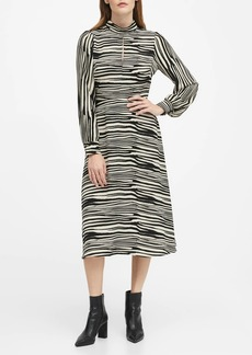 Banana Republic Mock-Neck Midi Dress