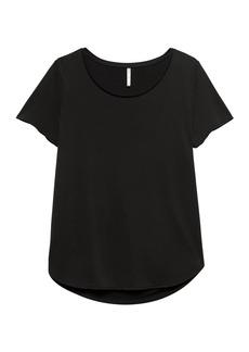 Banana Republic Sandwash Modal Blend Scoop-Neck T-Shirt