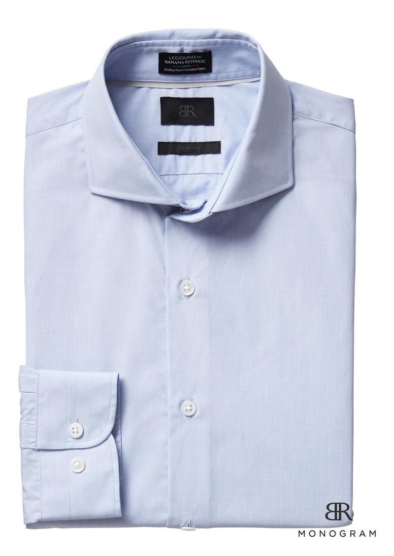 32b8b788aad SALE! Banana Republic Monogram Grant Slim-Fit Italian Cotton Dress Shirt