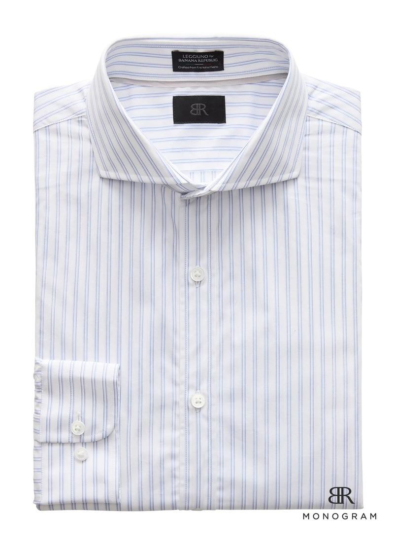 73a7ee334a4 Banana Republic Monogram Grant Slim-Fit Italian Cotton Stripe Dress Shirt