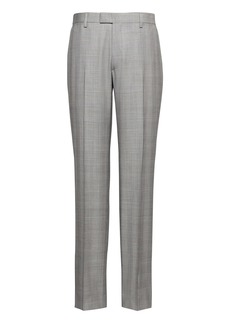 Banana Republic Monogram Slim Gray Plaid Wool Suit Pant