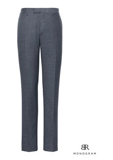 Banana Republic Monogram Slim Navy Wool-Cotton Suit Pant