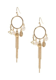 Banana Republic Multi Charm Hoop Earrings