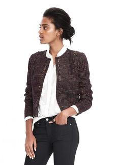 Multicolor Boucle Tweed Jacket