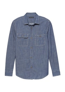 Banana Republic NEW Slim-Fit Double-Pocket Chambray Shirt