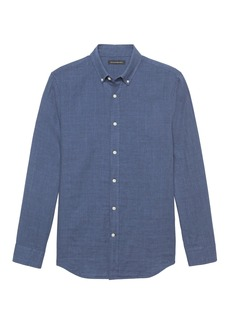 Banana Republic NEW Slim-Fit Double-Weave Shirt