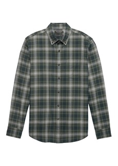 Banana Republic NEW Slim-Fit Luxe Flannel Plaid Shirt