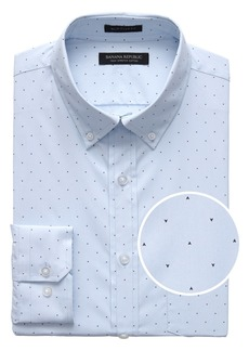 Banana Republic NEW Slim-Fit Tech-Stretch Cotton Arrow Print Shirt