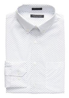 Banana Republic NEW Slim-Fit Tech-Stretch Cotton Cross Print Shirt