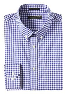 Banana Republic NEW Slim-Fit Tech-Stretch Cotton Gingham Shirt
