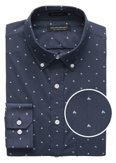Banana Republic NEW Slim-Fit Tech-Stretch Cotton Moto Print Shirt