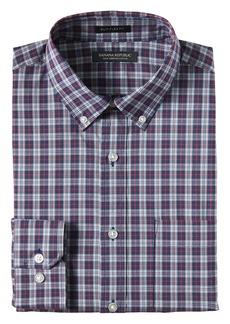 Banana Republic NEW Slim-Fit Tech-Stretch Cotton Plaid Shirt