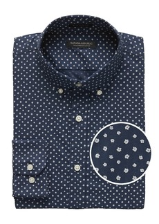 Banana Republic NEW Slim-Fit Tech-Stretch Cotton Print Shirt