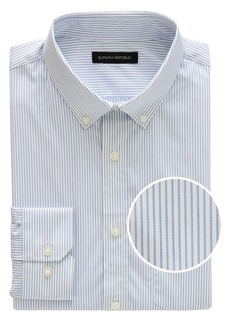 Banana Republic NEW Slim-Fit Tech-Stretch Cotton Stripe Shirt