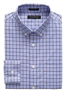 Banana Republic NEW Slim-Fit Tech-Stretch Cotton Tartan Plaid Shirt