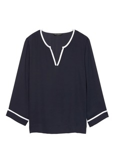 Banana Republic Notch-Neck Top
