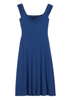 Banana Republic Off-Shoulder Midi Knit Dress