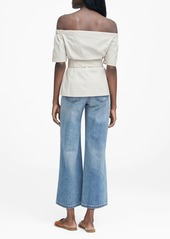 Banana Republic Off-the-Shoulder Top with Removable Belt