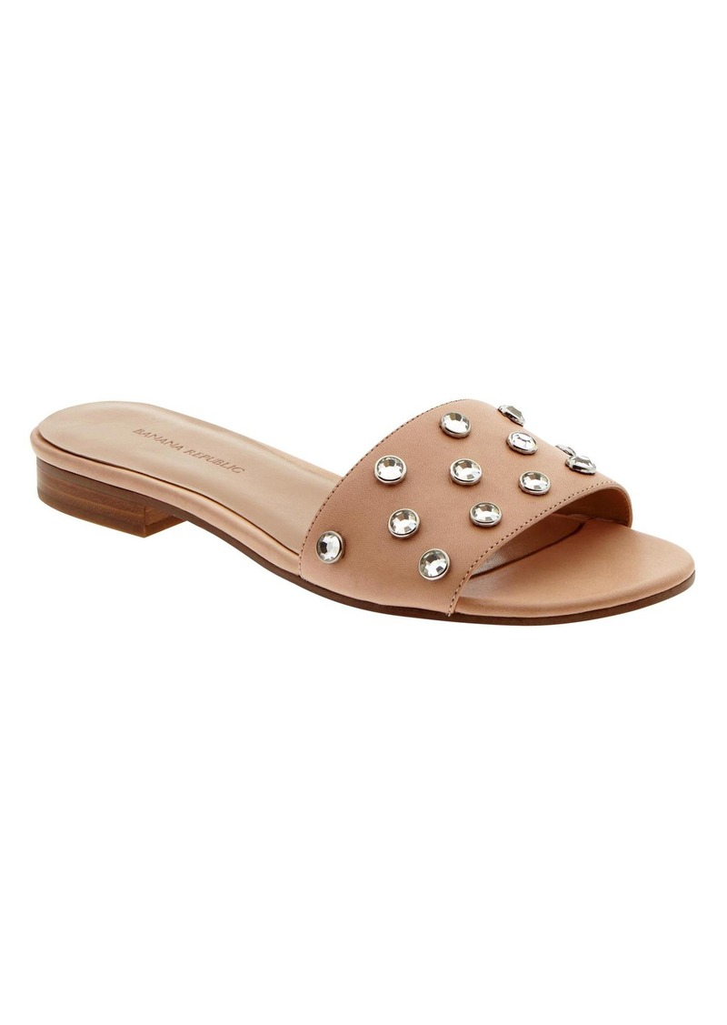 Banana Republic Olena Embellished Slide Sandal