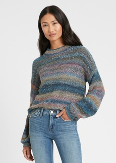 Banana Republic Ombré Sequin Cropped Sweater