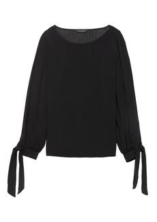 Banana Republic Tie-Cuff Top