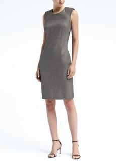 Padded Cap-Sleeve Bi-Stretch Sheath Dress