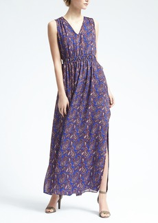 Paisley Gathered Maxi Dress
