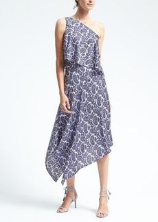 Paisley One-Shoulder Dress
