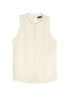 Banana Republic Paneled Lace Shell