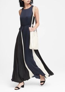 Banana Republic Paneled Maxi Dress