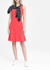 Banana Republic Paneled Ponte Fit-and-Flare Dress