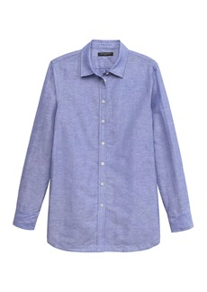 Banana Republic Parker Tunic-Fit Linen-Cotton Shirt