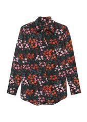 Banana Republic Parker Tunic-Fit Floral Washable Silk Shirt