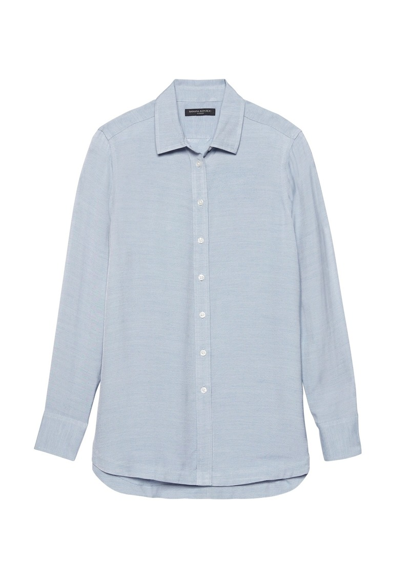 Banana Republic Parker Tunic-Fit Solid Shirt