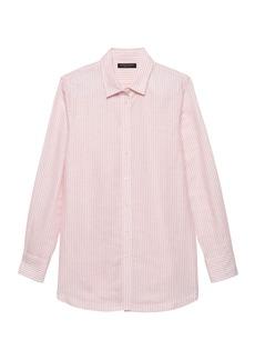 Banana Republic Parker Tunic-Fit Stripe Linen-Cotton Shirt