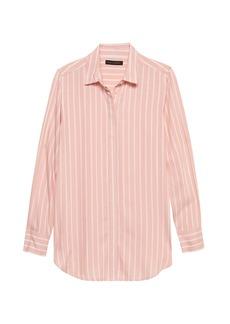 Banana Republic Parker Tunic-Fit Stripe Shirt