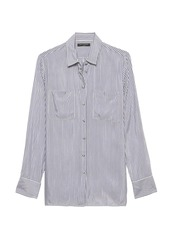 Banana Republic Parker Tunic-Fit Stripe Shirt