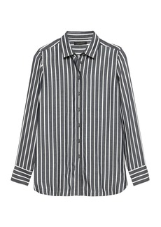 Banana Republic Parker Tunic-Fit Wide Stripe Shirt