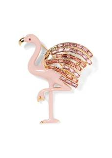 Banana Republic Pavé Flamingo Brooch