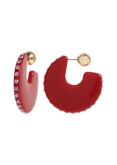 Banana Republic Pavé Resin Hoop Earrings