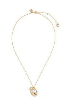Banana Republic Pavé Rings Pendant Necklace