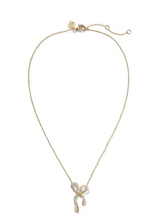 Banana Republic Pave Bow Necklace