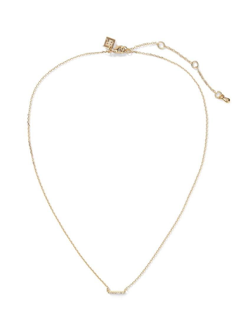 Banana Republic Pave Line Pendant Necklace