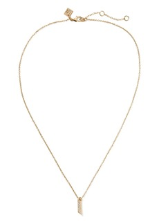 Banana Republic Pave Linear Pendant Necklace
