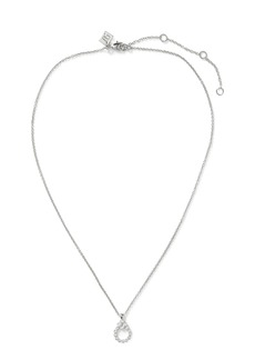 Banana Republic Pave Open Drop Pendant Necklace