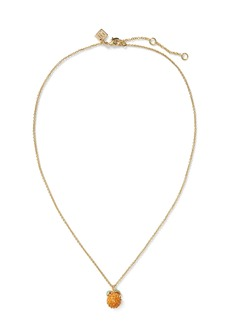 Banana Republic Pave Orange Pendant Necklace