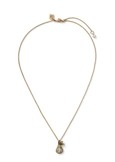 Banana Republic Pave Pear Pendant Necklace